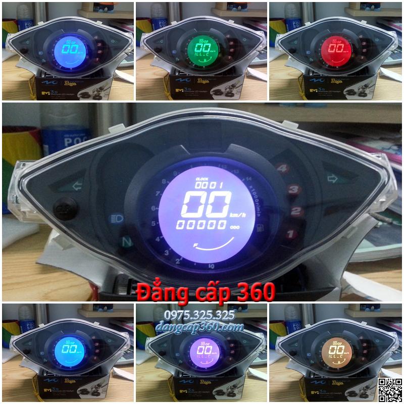 Đồng hồ điện tử (LCD) cho Wave @, RS, Sm RSX 100cc